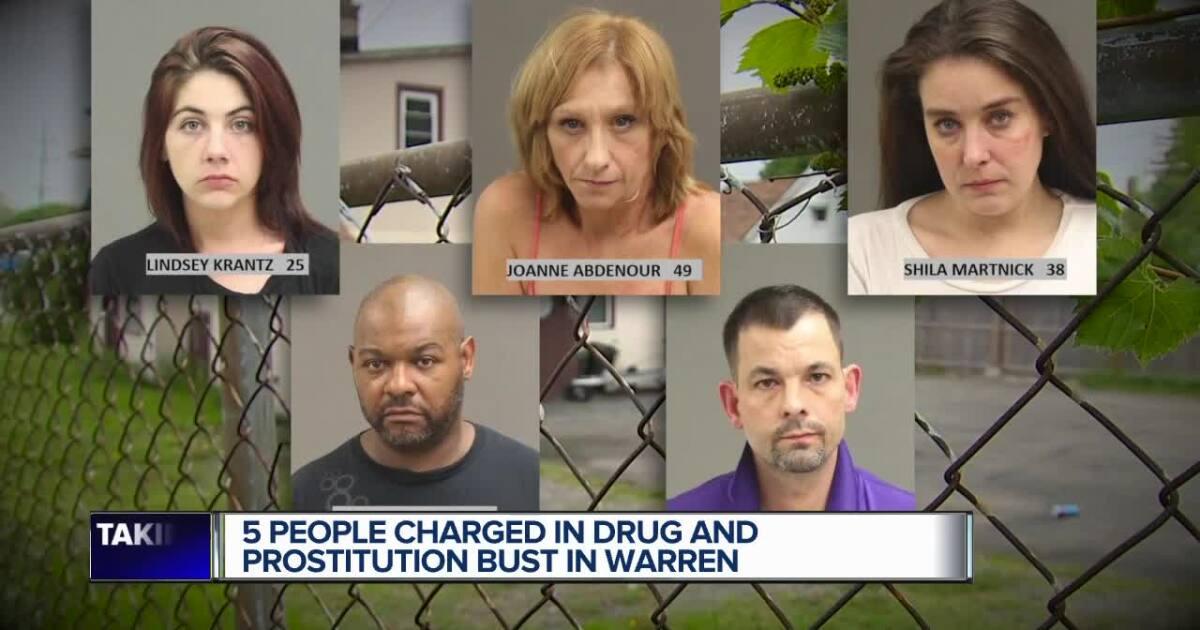 Warren police bust men & woman at alleged prostitution