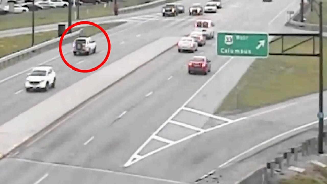 Crazy video shows car driving backwards on Ohio highway