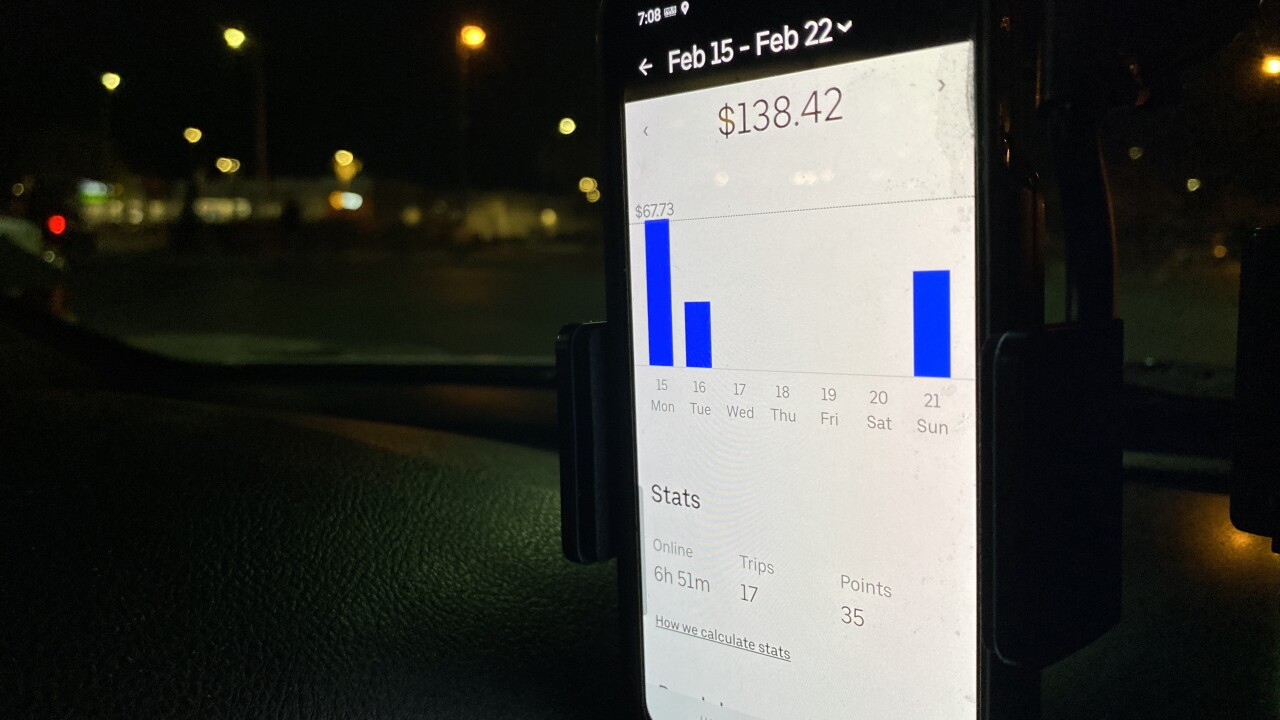 Lyft and Uber are reporting slight increases in business as people begin to request more rides amid loosened restrictions related to COVID-19