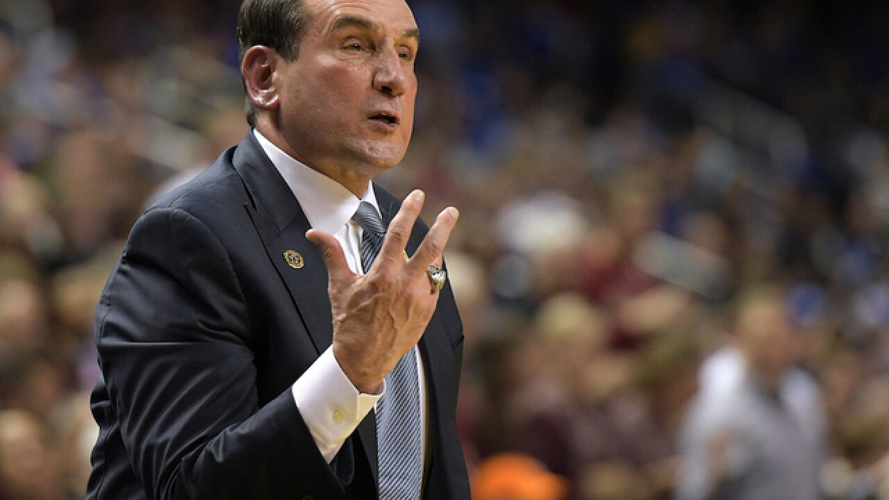 Duke's Krzyzewski to take medical leave for back surgery