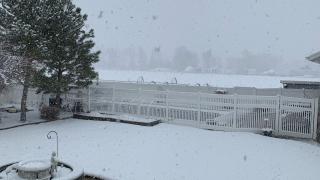 Snow in Mountain Green, April 14, 2021