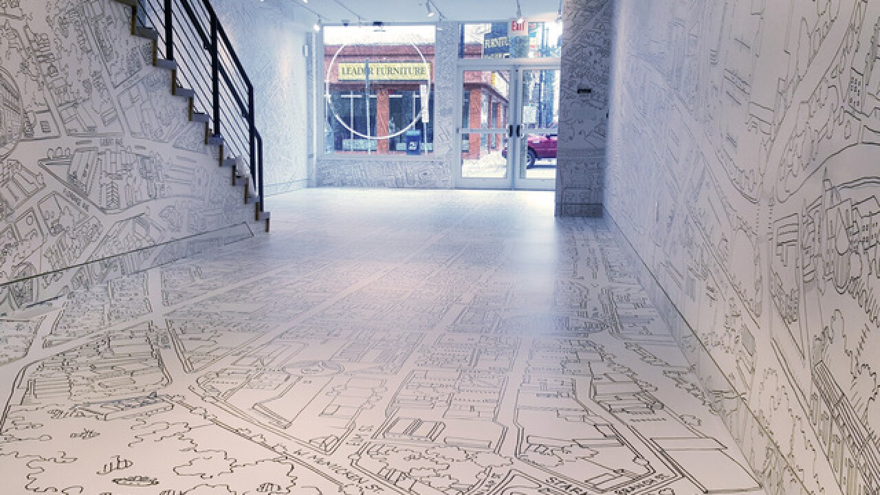 Come to the Globe Gallery and walk through 20 square miles of Phil Rowland's hand-drawn Cincinnati