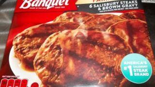 Banquet frozen Salisbury steak dinners recalled for possible contamination