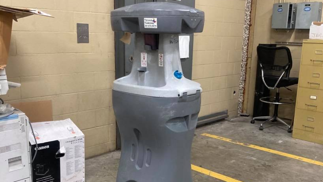 Water station inside San Patricio County jail