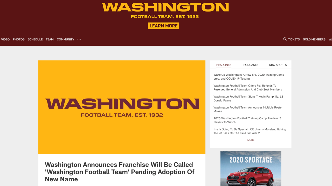 Man says he unknowingly sold 'WashingtonFootball.com' to Washington Football Team for mere $10,000