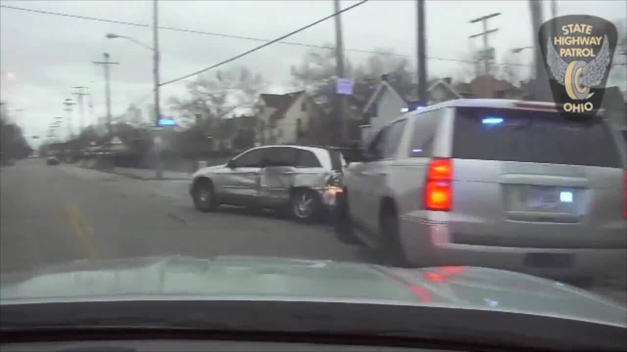 Video: Woman takes troopers on crazy chase through Cleveland