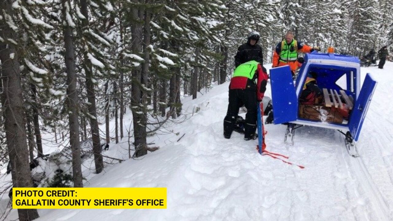 Woman Rescued After Crashing Snowmobile Near West Yellowstone