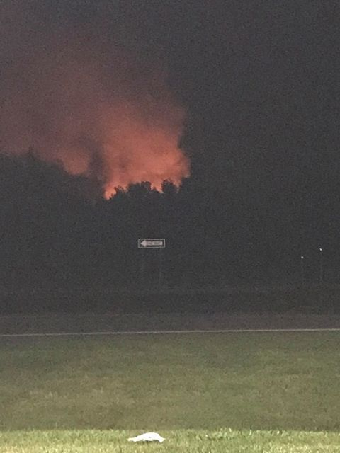 Viewer photo of fire in Caledonia Thursday night