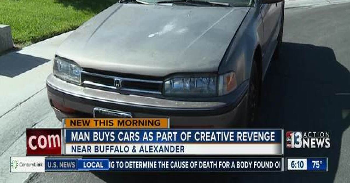 Man buys cars to junk up his year as part of creative