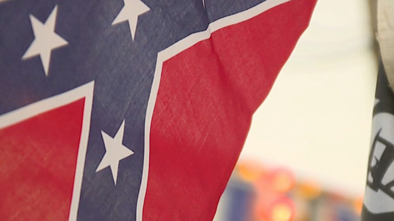 Protest intensifies over the sale of the Confederate flag at county fair in Ohio