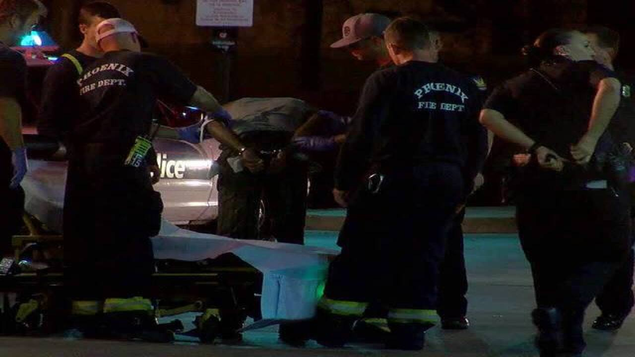 PD: Driver hits 3 officers in PHX parking lot