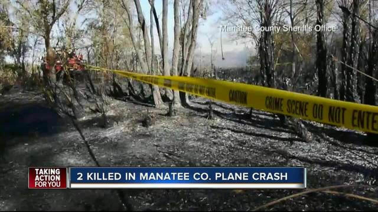 Wildfire sparked by plane crash