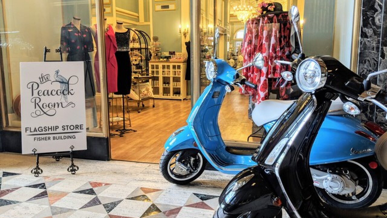 Vespa pop-up dealer opens in Detroit's Fisher Building