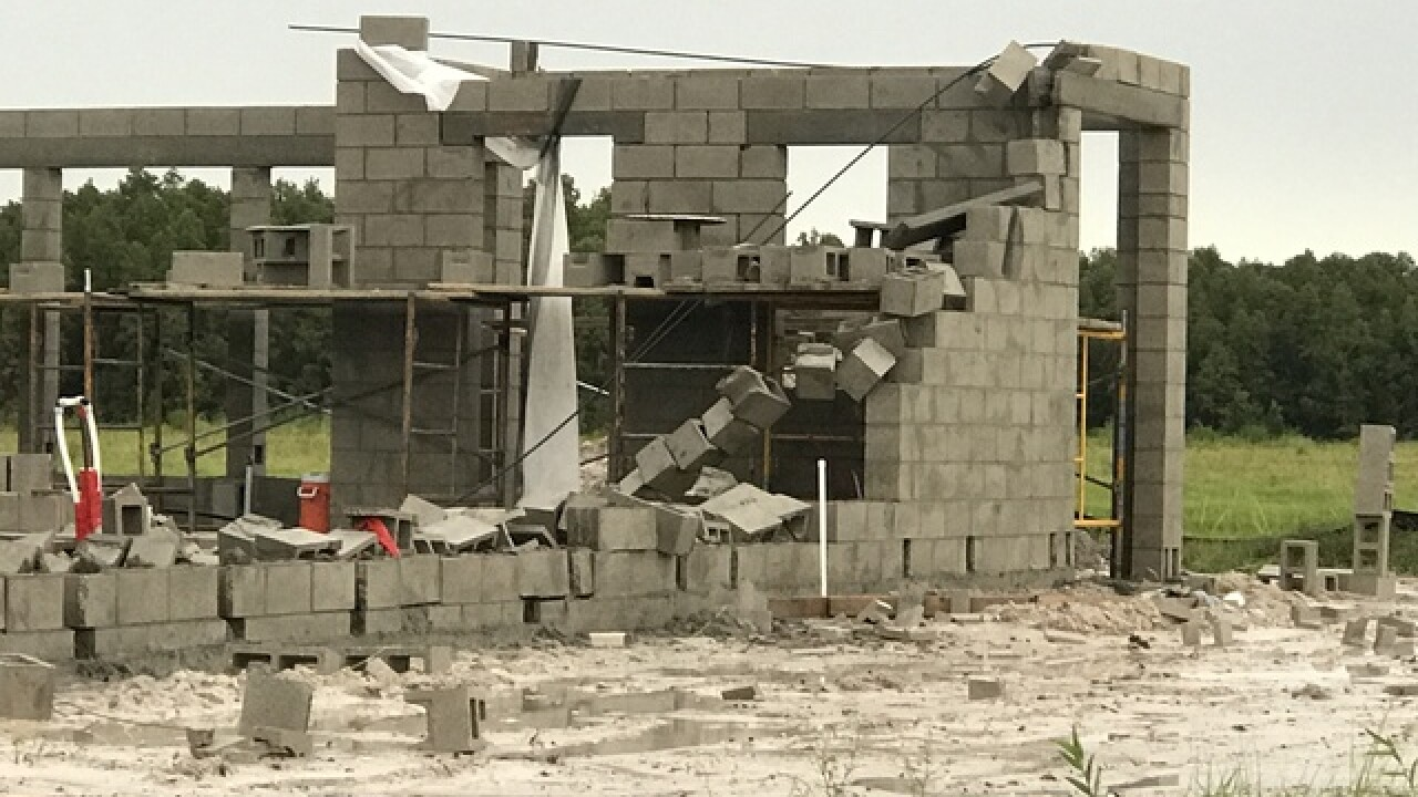 Two workers hospitalized after wall collapse