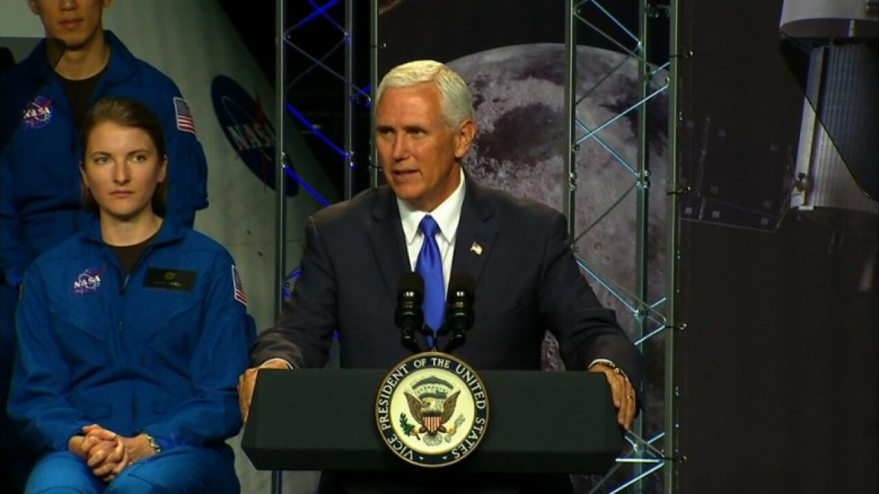 Pence: 'We will put American boots on the face of Mars'