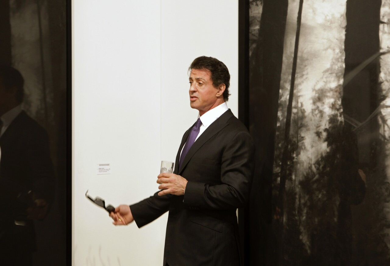 Sylvester Stallone at Art Basel in 2009