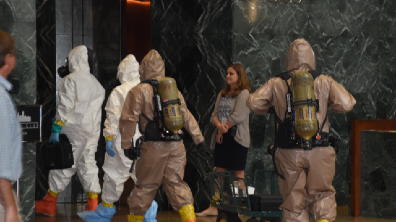 HazMat investigates white powder at OneAmerica