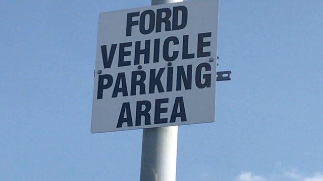Worker questions Ford-only parking spot at plant