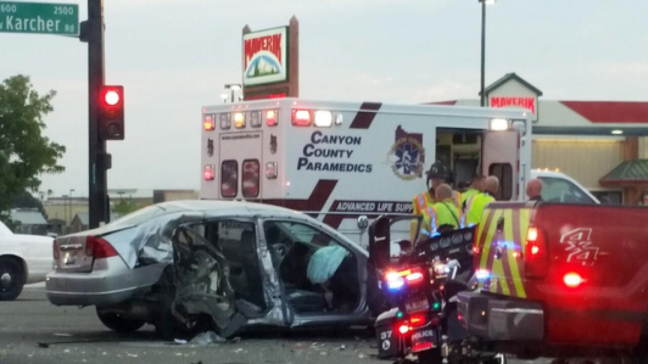 Crash at Middleton Rd  and Karcher Rd