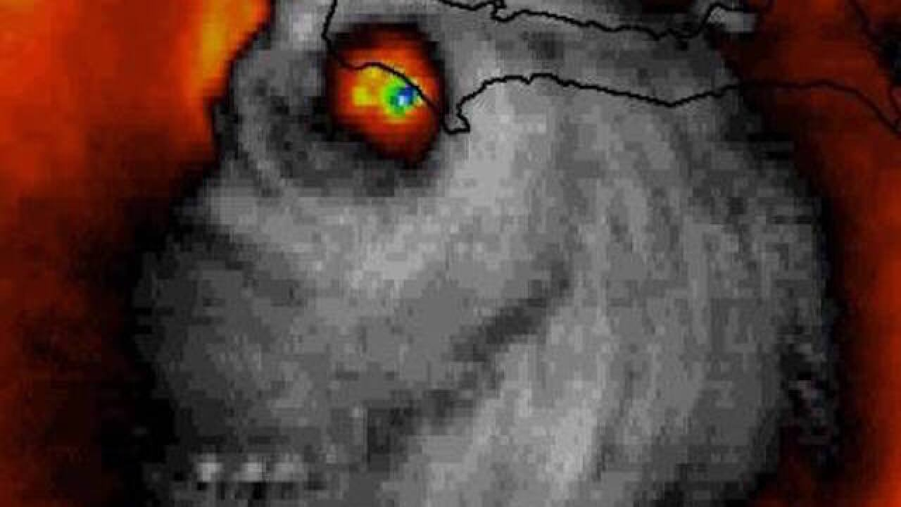 Satellite image of Hurricane Matthew looks like grinning skull
