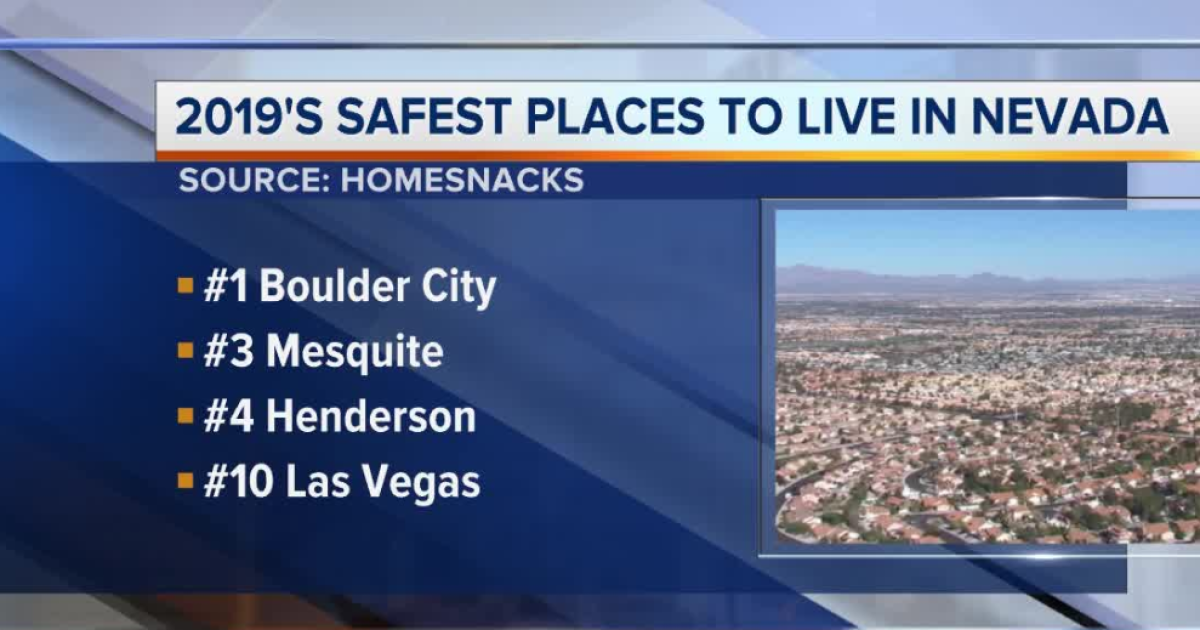 Boulder City ranked safest place to live in NV