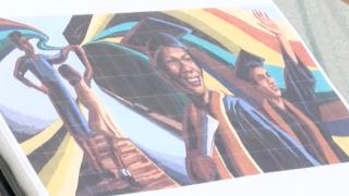 Newport mural design on paper
