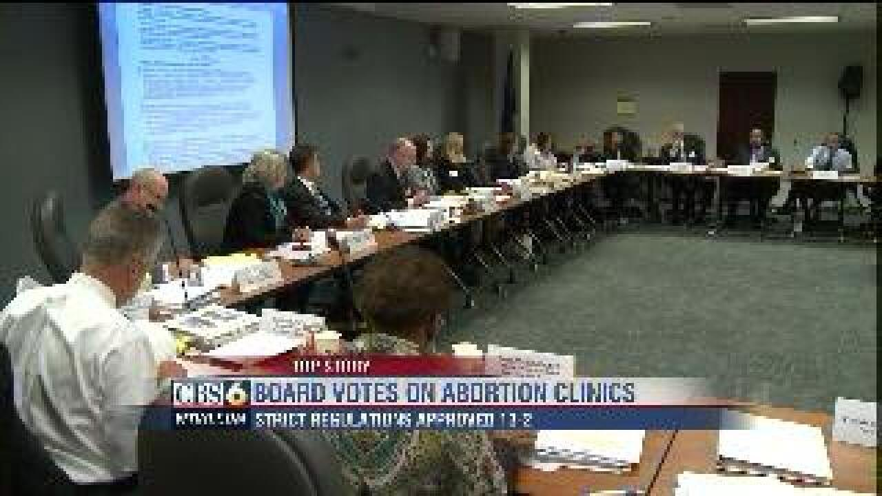 Board of Health votes to approve tougher abortion regulations without exceptions