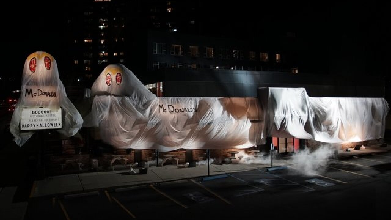 Burger King dresses up as McDonald's for Halloween