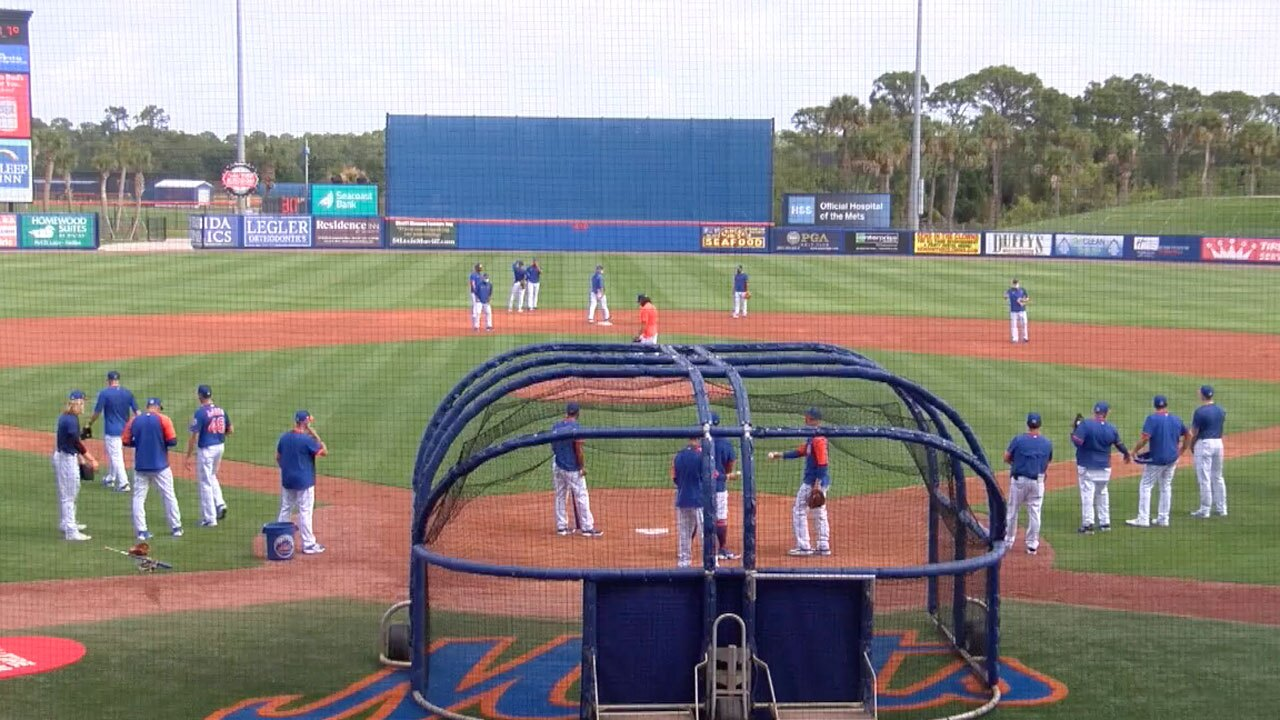 Mets workout at Clover Park March 2, 2021