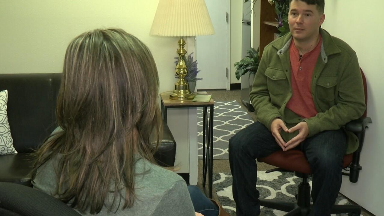 Survivor Derik Grimes talks with News 5's Elizabeth Watts