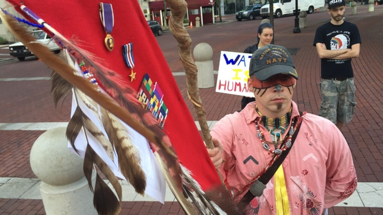 Dozens gather to protest Dakota Access Pipeline