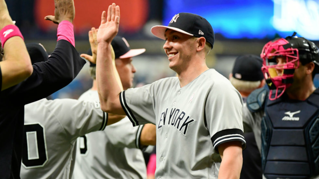 Yankees celebrate win May 12 2019