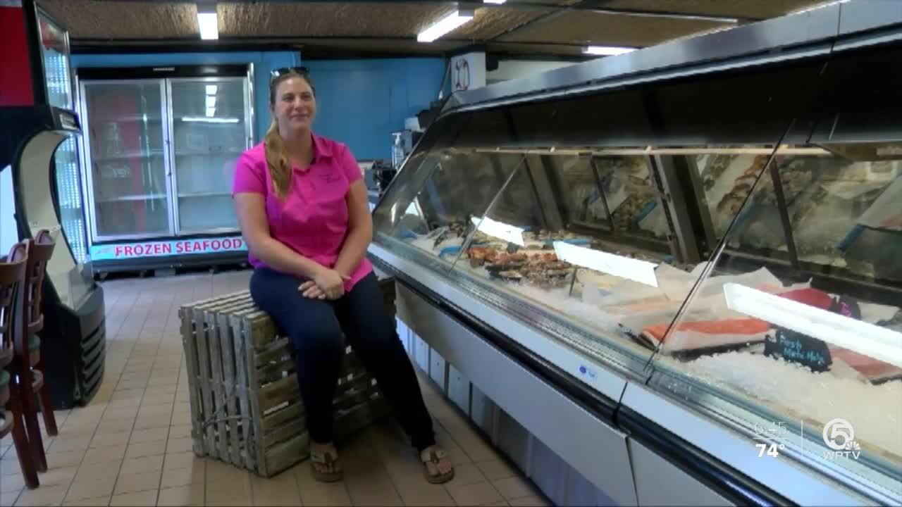 Nicolette Mariano, owner of Treasure Coast Shellfish