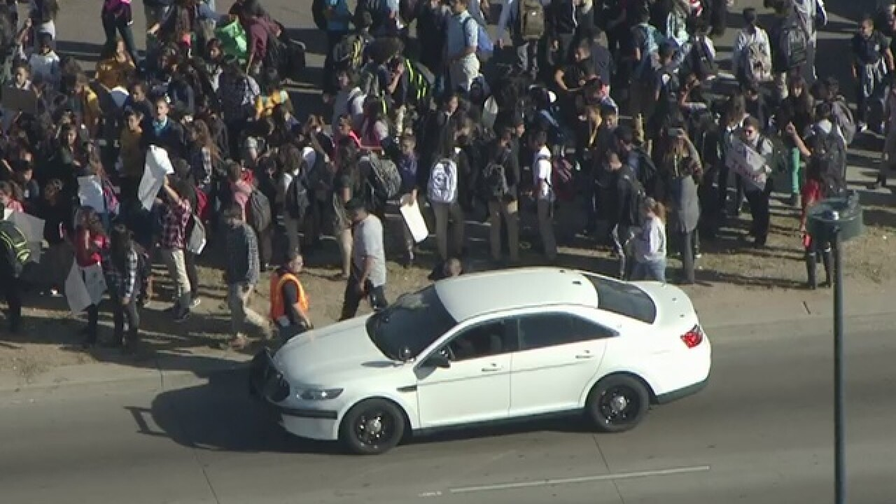 Denver students walk out for 2nd time in protest