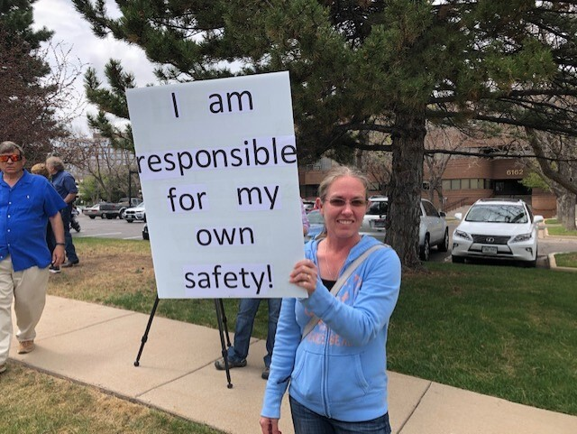Protester responsible for own safety