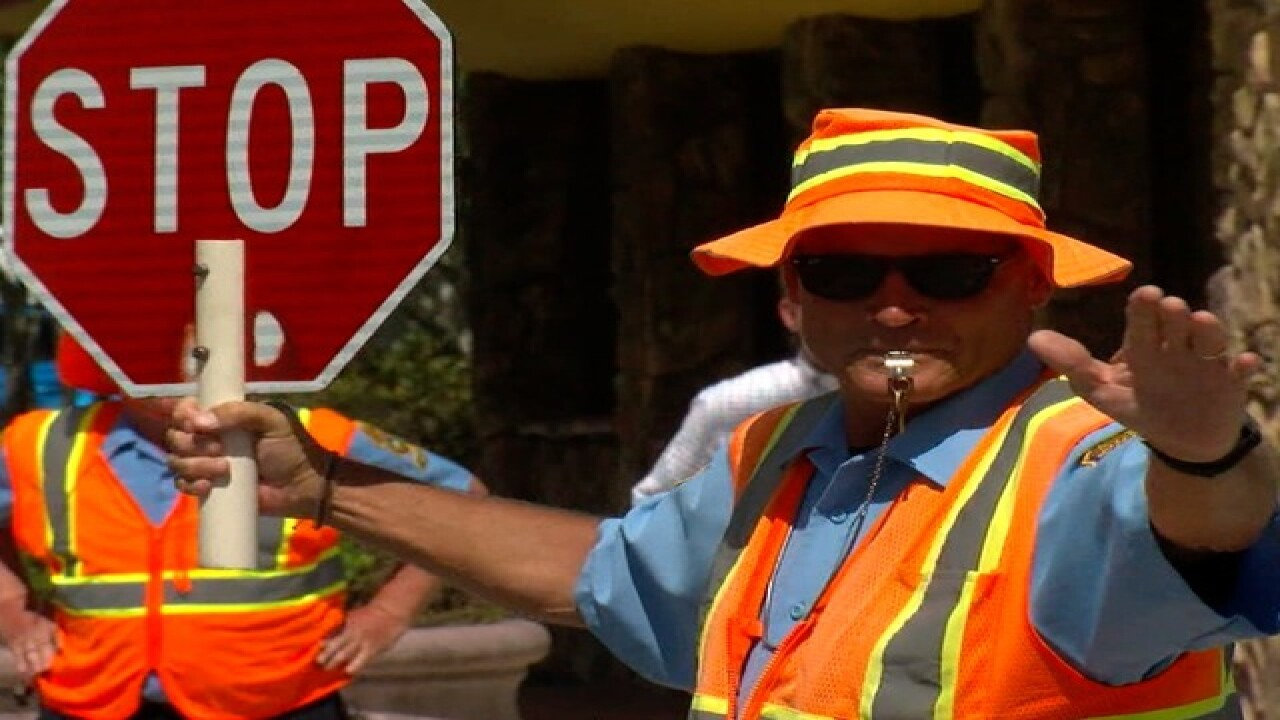 Crossing guards get ready for back to school