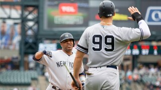 Edwin_Encarnacion_New York Yankees v Detroit Tigers - Game One
