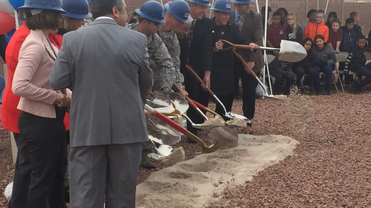 Nellis Air Force Base breaks ground on new school