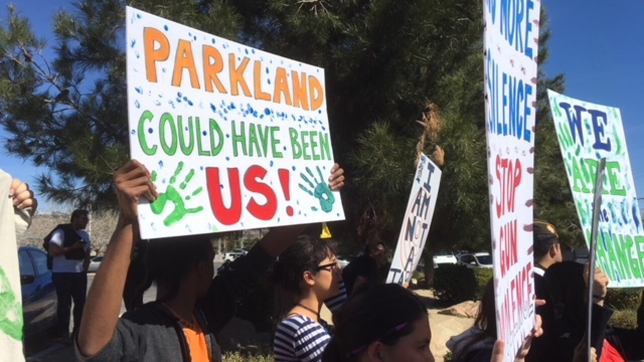 Rancho High School students hold walkout rally