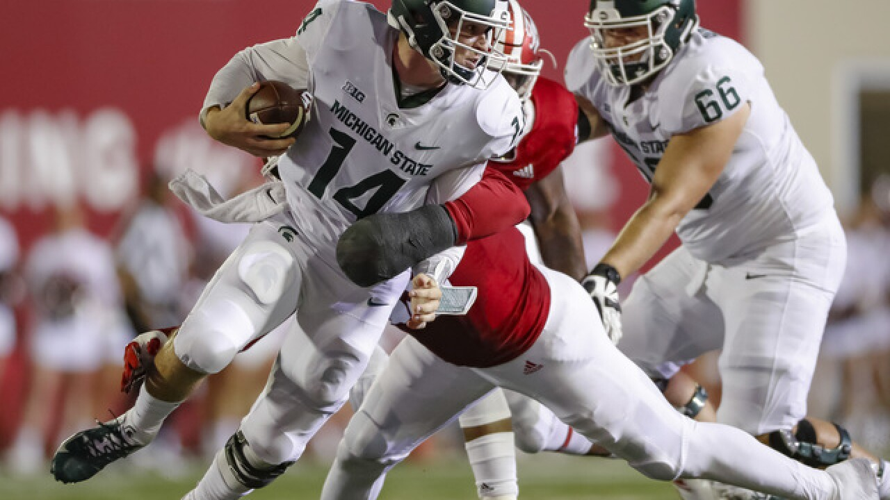 No. 24 Michigan State holds on to beat Indiana