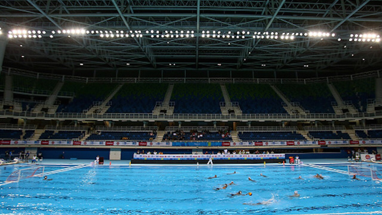 Why are there lifeguards at the Olympic swimming events?