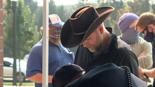 Ammon Bundy at Ada County Courthouse