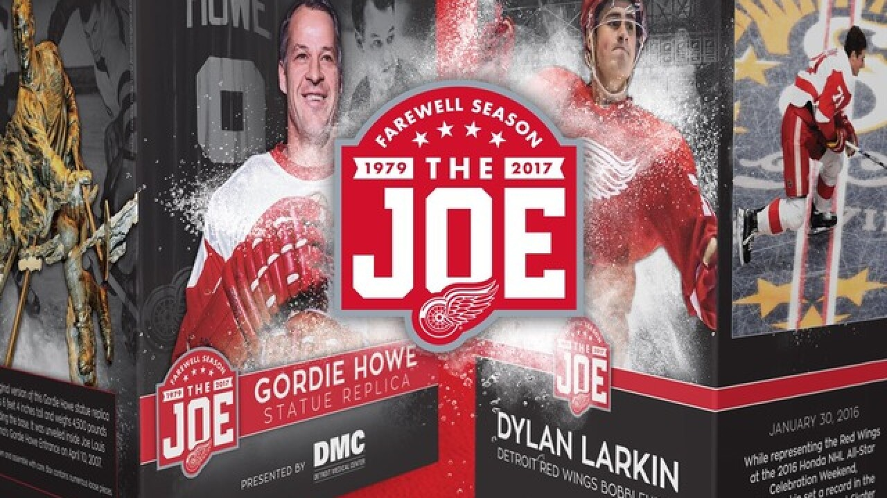 78ae1ab2b72 Detroit Red Wings release promotional schedule for Farewell Season at the  Joe