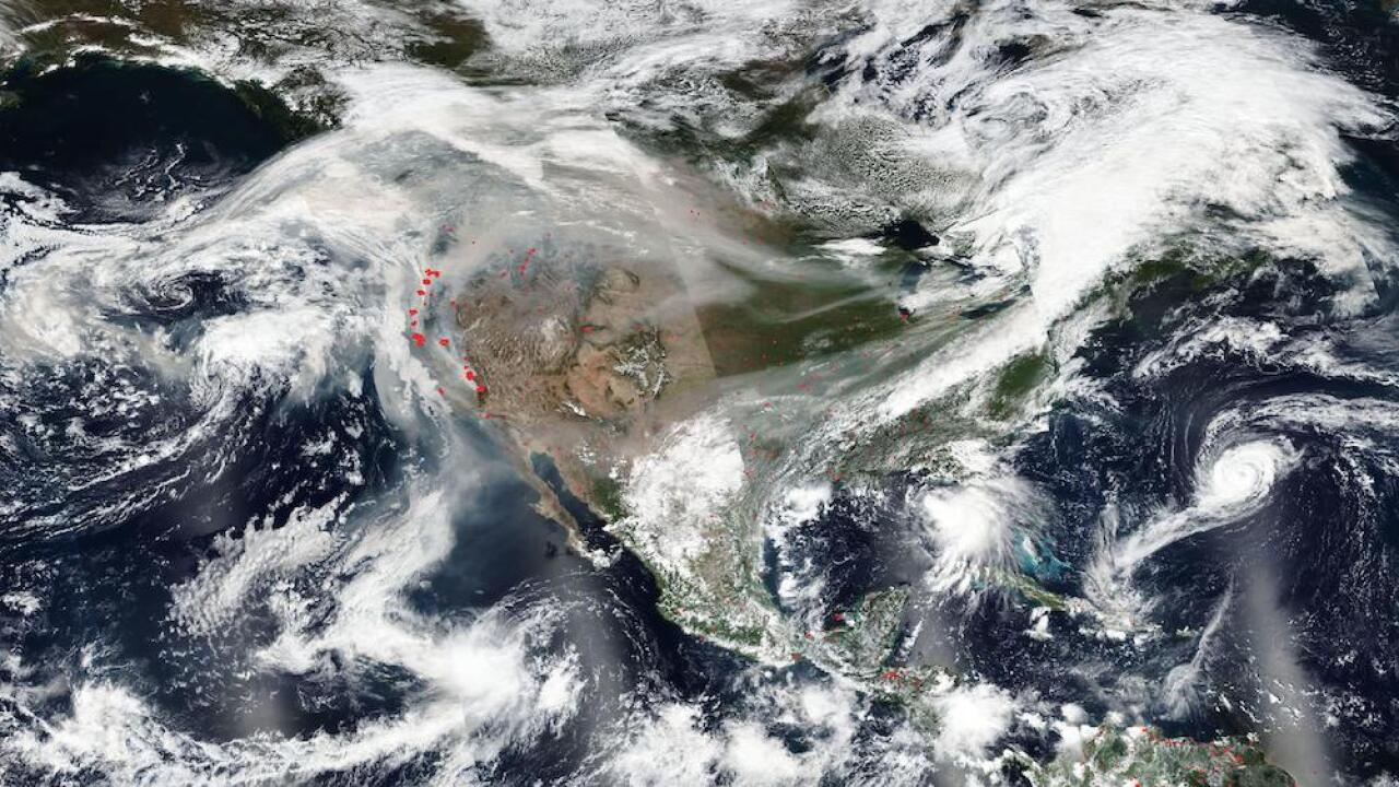 Smoke from the western wildfires has reached the East Coast