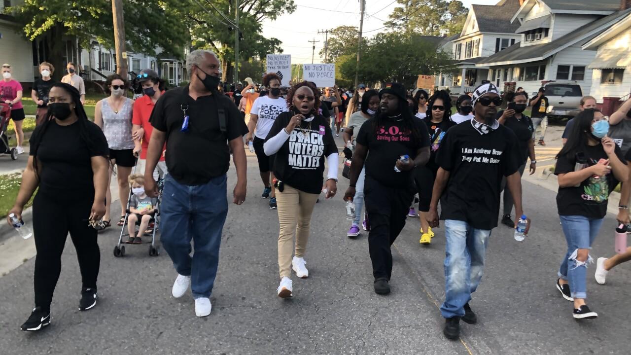 Andrew Brown protest in Elizabeth City (April 27).jpg