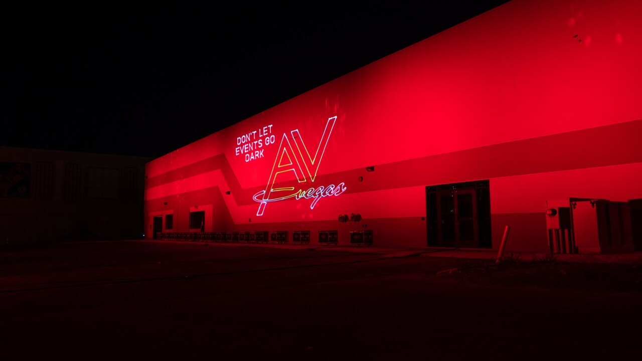 "These are photos provided by AV Vegas, a local company joining the ""Red Alert Restart"" movement for the live entertainment industry across the United States"