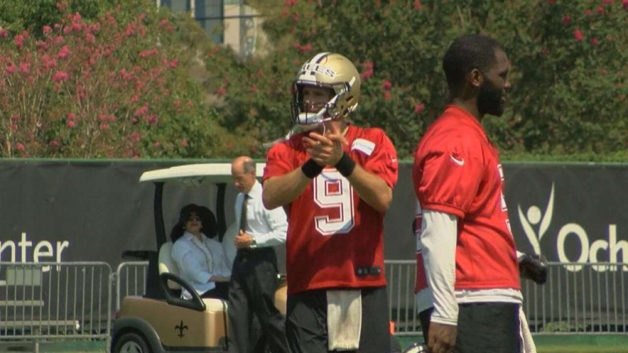 Saints Open Camp, Brees's 18th