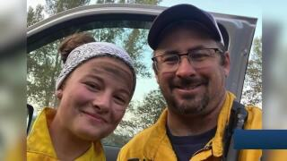Father and daughter fight side-by-side against Bridger Foothills Fire