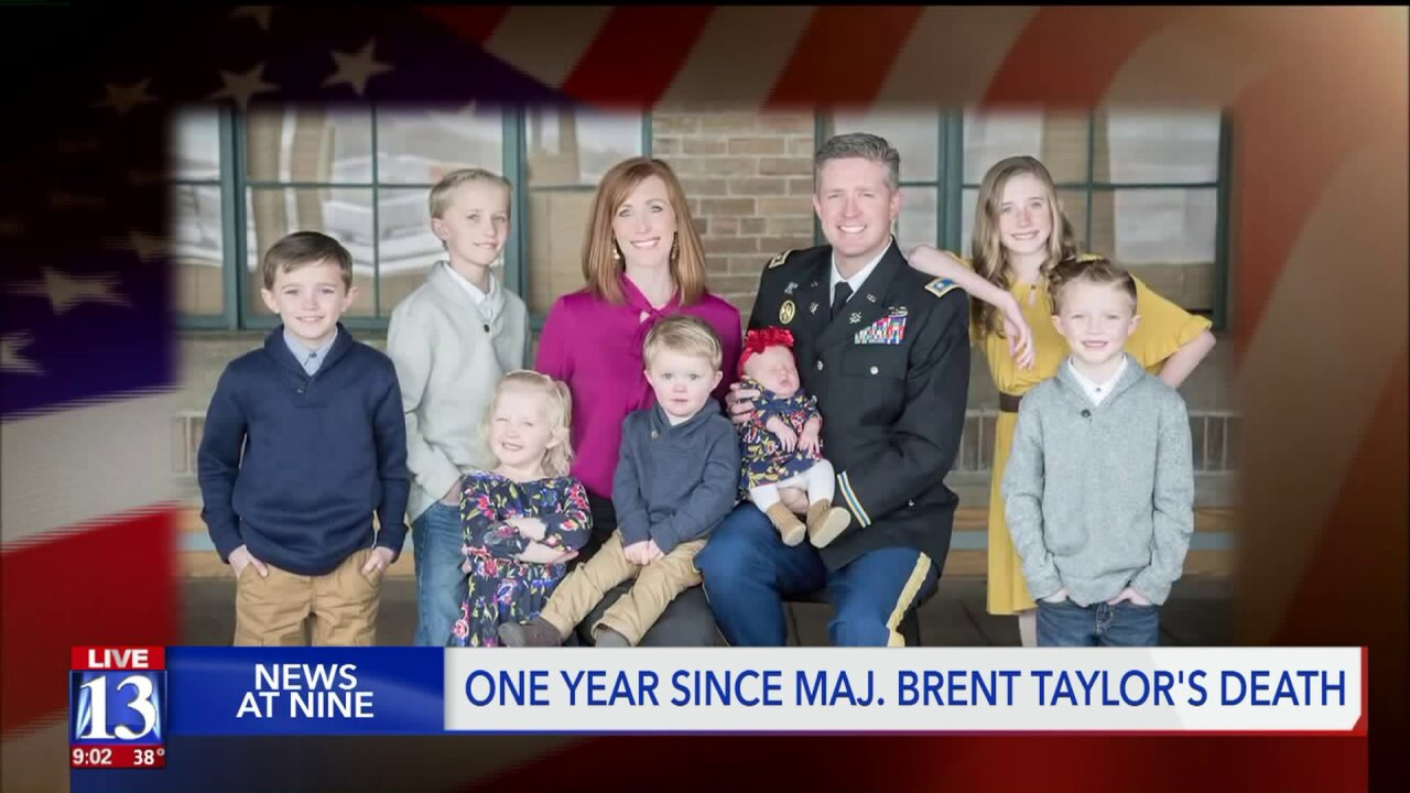 Veterans honored on first anniversary of Maj. Brent Taylor's death