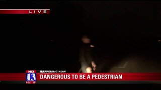 UDOT, Unified Police demonstrate dangers facing pedestrians